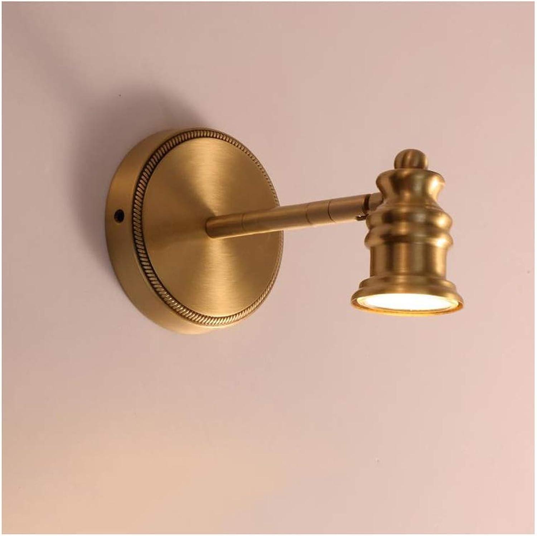 Spiegelleuchte Kupfer Badezimmer Moderne LED Spiegelleuchte Spiegelschrank Schminktisch Make-up Lampe Einfaches Badezimmer (Größe   12cm)