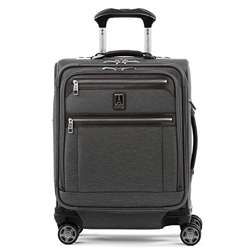 Travelpro Platinum Elite-Softside Expandable Spinner Wheel Luggage, Vintage Grey, Carry-On 19-Inch