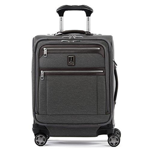 Travelpro Platinum Elite-Softside Expandable Spinner Wheel Luggage, Vintage Grey, Carry-On 19-Inch