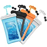 Cambond Waterproof Phone Pouch, Anti-break Lanyard, IPX8, Clear TPU, Fit for iPhone X/8/8P/7/7P, Samsung Galaxy S9/S8/S8P/Note 8, Google Pixel/HTC/LG, Up to 6.5', Cruise Ship Kayak Accessories, 4 Pack