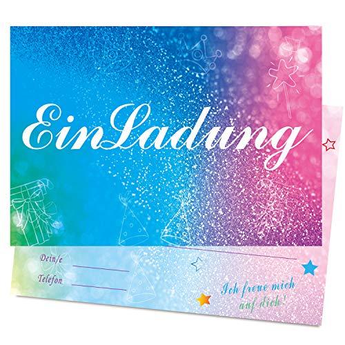 Hather 15 Stück Einladung with Schöner Umschlag Partyeinladung - Bunter Stil Einladungskarten zum Geburtstagseinladung Kinder Jungen Mädchen Teenager - Einladung Kindergeburtstag