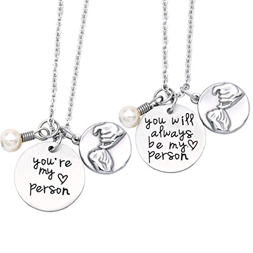O.RIYA Not Whole Without You/You're My Person Necklace Stainless Steel Necklace Jewelry Gift, Bridesmaid Gift, Thank You Gift, Wedding Gift, Gift for Friends (Necklace-Set)