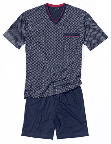 Götzburg Herren 451456-4008 Zweiteiliger Schlafanzug, Blau (Navy 7013), Large (Herstellergröße: 52)