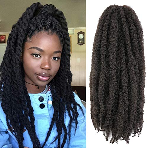 AGO Marley Hair For Twists 24 Inch 6 Packs Long Afro Kinky Marley Twist Braiding Hair Low Temperature Synthetic Fiber For Havana Twists Or Crochet Twists (24inch, 1#)