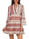 ONLY Damen Bluse Tunika Sally Athena Bluse mit Streifen 15206206 Cloud Dancer/hot sause Athena 40