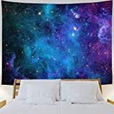 Greenpure Galaxy Tapestry Blue Starry Sky Tapestry Wall Hanging 30x40 inch 3D Cosmic Universe Space Tapestry Mysterious Nebula Stars Tapestry Galaxy Poster Wall Decor for Bedroom Living Room Dorm