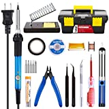 Soldering Iron Kit Electronics 60W Adjustable Temperature Soldering...