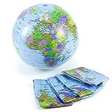 SurePromise One Stop Solution for Sourcing Inflable Globo 40cm Atlas Mapa del Mundo Tierra Pelota de Playa Geografía Hinchable Juguete