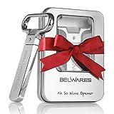 Belwares Ah So Wine Opener - Durable Stainless Steel Two-Prong Cork Puller with Sleek Case - Red & White Wine, Beer,...
