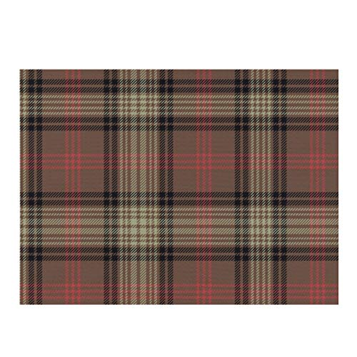Dish Drying Mat,Ross Hunting Weathered Tartan Absorbent Reversible Microfiber Mat Dish Dry Pad Protector for Kitchen Countertop 12x16inch