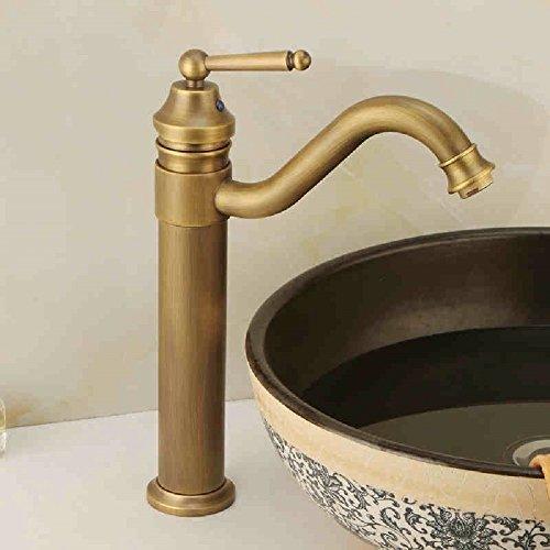 HQLCX Robinets de lavabo Ancien Bassin Plein Retour Antique Robinet Chaud du Rotary Froid Bronze Robinet