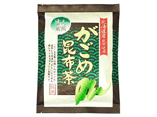 がごめ昆布茶 40g (天然素材) 北海道産昆布使用 ミネラル豊富なこんぶ茶 (使いやすい個包装タイプのガゴメコンブ茶)
