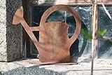 Rostikal Edelrost Gartendeko Vintage 34 cm Gießkanne zum Bepflanzen Rost Deko für Garten