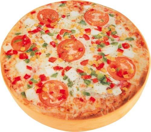 Small Foot Design 4169 Pouf Pizza, Tessuto, Multicolore, 38.5x38.5x7 cm