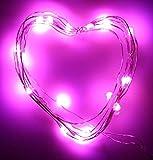 ✽ZEZKT-Home✽3M 30LED Fairy Lights Lichterketten für Weihnachten Hochzeit Party Dekoration Warm Led Light Wattebausch LED Lichterkette (Rosa)
