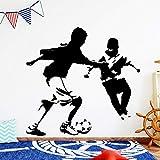 Tianpengyuanshuai Jugar al fútbol Pegatinas de Pared Pegatinas de Pared Impermeables Pegatinas de Pared para Habitaciones de niños 68X72cm