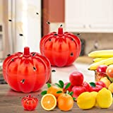 Burxoe Fruit Fly Trap, Fruit Fly Traps for Indoor,Gnat Trap,Fruit Fly Catcher, Non-Toxic Odorless Gnat Killer for Home/Kitchen/Dining Room 2 Pack Pumpkin Shape