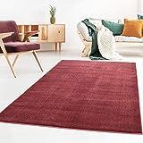 Taracarpet Kurzflor-Designer Uni Teppich extra weich fürs Wohnzimmer, Schlafzimmer, Esszimmer oder Kinderzimmer Gala rot 120x170 cm