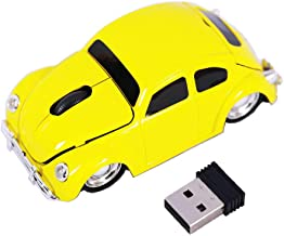 Jinfili 1967 Classical Style Car Wireless Mouse Ergonomic Game Computer Mice for Desktop Laptop PC