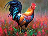 New Arrival DIY Oil Painting by Numbers Kit Theme PBN Kit for Adults Girls Kids White Christmas Decor Decorations Gifts-Cock (Without Frame, NO-1)