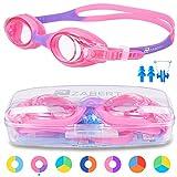 ZABERT Schwimmbrille für Kinder, K1 Schwimmbrillen Kinderschwimmbrille Chlorbrille für Jugendliche Kinder Kind Junior Jungen Mädchen 2 3 4 5 6 7 8 9 10 11 12 Jahre Pink Rosa Lila