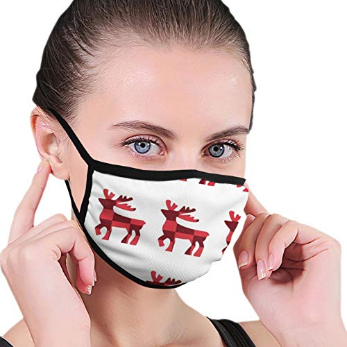 Deer Red Cube Men's and Women's Mouth Face Mask Anti Breathable Dust Absorb Sweat Washable Reusable Masks for Cycling Camping Ski Travel Outdoor