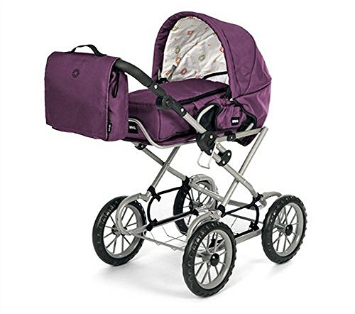 BRIO 63891398 63891398-Puppenwagen Premium Combi, violett (inkl. Tasche)