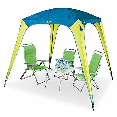 COLUMBUS Simple Tente de Camping Mixte Adulte, Jaune/Bleu, Unique