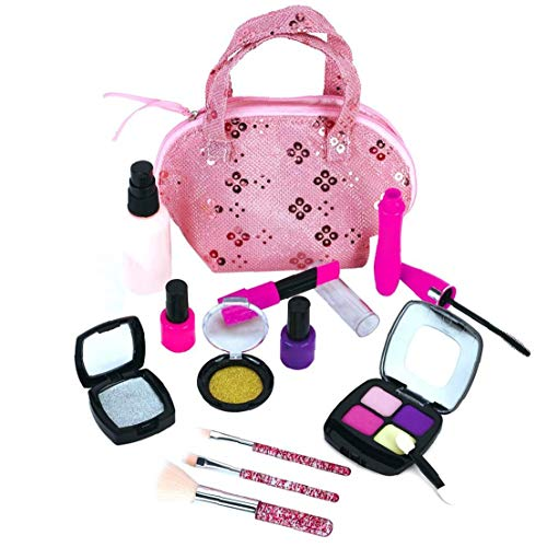 ZYCX123 El cosmético Portable del Maquillaje de los niños Maleta de Manera Segura el Juego de simulación Apoyos Interactivo de Juguetes educativos para niñas Recuerdos