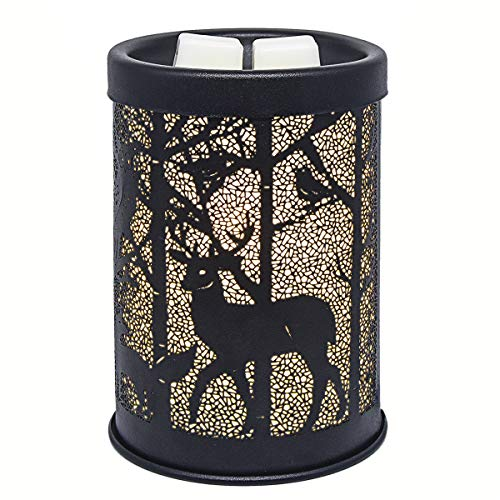 EQUSUPRO Metal Wax Melt Warmer Electric Wax Burner Melter Fragrance Warmer for Home Office Bedroom Living Room Gifts & Decor (Deer)