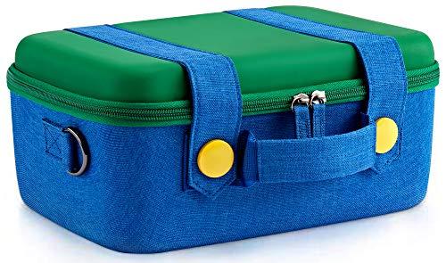 Funlab Funda de Transporte de Viaje Compatible con Nintendo Switch Sistema , Cute y Deluxe, Case Rígida de Protector Estuche de Almacenamiento para Nintendo Switch Console y Accesorios(verde)