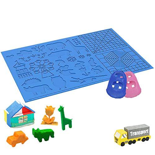 3D Stifte Matte, 16,4 x 10,9 Zoll Großer 3D-Druckstift Matte Silikon Basic Template Pad mit 2 Fingerschutz für Kinder und Erwachsene 3D-Stiftzubehör Zeichenwerkzeuge