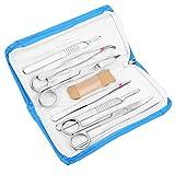 Kit de disección avanzada de 7 piezas, herramientas de acero inoxidable de primera calidad para estudiantes de anatomía, biología, veterinaria, botánica