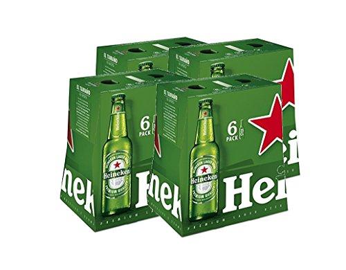 Heineken Cerveza - 4 Packs de 6 botellas x 250 ml - Total: 6L
