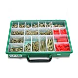Spax Xpert Wood Screw & Raw Plug Case - 847 Assorted Screws and...
