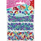 """1.2 oz. Foil and paper Multi colored mini stars/circles/sea creatures, round cutouts of """"Flounder/Sebastian/Ariel"""" Match with our other """" Disney Ariel Dream Big"""" party collection"""