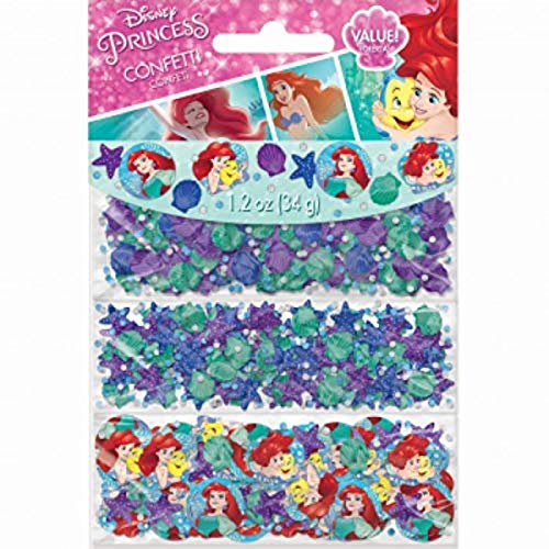 Amscan 361620 Confetti Disney Ariel Dream Big Collection 1 pack Party Accessory
