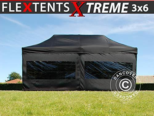 Dancover Vouwtent/Easy up tent FleXtent Xtreme 60 3x6m Zwart, inkl. 6 Zijwanden