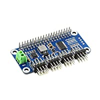 Photo Gallery wfbd-cn modulo elettronico servo hat driver (b) servo drive consiglio angolo retto pinheader for raspberry pi 16 canali a 12 bit i2c