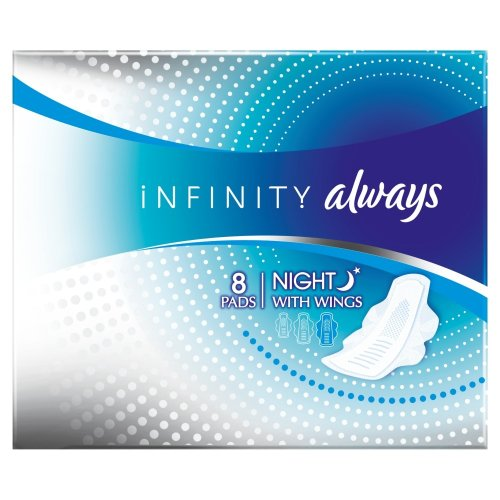 Always Infinity Serviettes Night avec ailettes x 8...