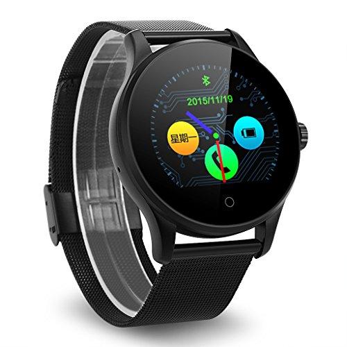 Excelvan K88H Smartwatch Smartwatch Bluetooth V4.0 stappenteller hartslagmonitor slaapmonitor klok / sms-reminder, zwart