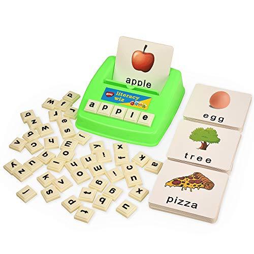 BOHS Alfabetización Wiz diversión del Juego -Mini Caso de Palabras a la Vista - 60 Tarjetas Flash - Juguetes educativos para niños de Preescolar