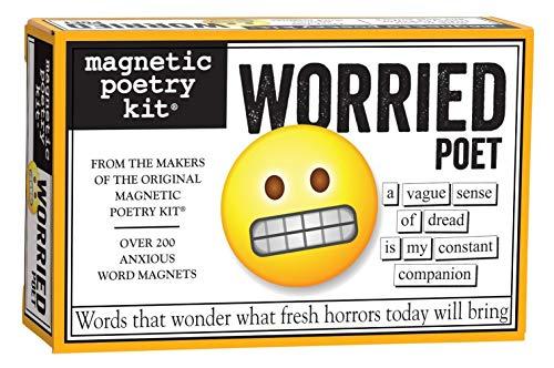 besorgt Dichter - Kühlschrank-Magnet-Set - Kühlschrank Poesie
