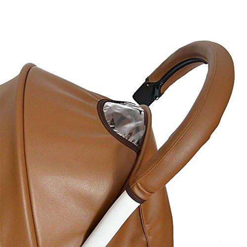 Schutzhülle für Armlehne und Rollstühle mit Griff, Braun