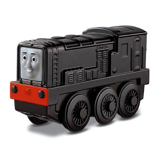 Mattel Fisher-Price Y4109 - Thomas und seine Freunde Holzlokomotive Diesel 10, klein, batteriebetrieben