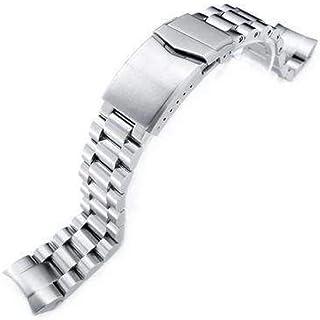 Bracciale per orologio Strapcode 22mm Endmill 316L in acciaio inossidabile per Orient Mako II e Ray II, V-Clasp spazzolato