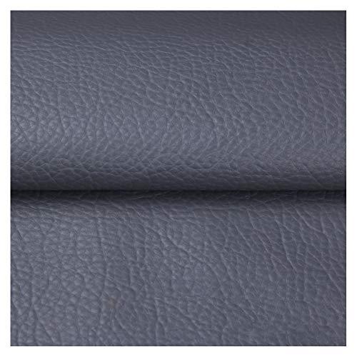 ZSFBIAO Tela por Metros de Polipiel Tela tapizar Techo cocheSuave Tejido de Piel ecológicade imitación Material Texturizado por tapizar, Cojines o forrar -32o Gris Oscuro 1.38×4m