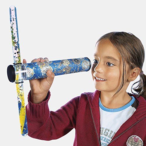Tri Maxi-Kaleidoskop, drehbar, Spiel, faszinierend, Kinder, schillernde Farben, Lernspielzeug, Fantasie, Kunststoff, Ø 4 cm, Länge 24 cm