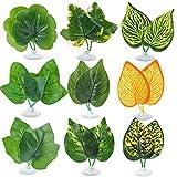 KONUNUS Betta - Juego de 9 piezas de hamaca de pescado para plantas con ventosa para decoración de tanque de plantas para simulación de hábitat natural Betta
