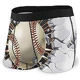 Web--ster Baseball Old Intonaco Muro di Cemento Danno Intimo Uomo Stretch Classic Slip Boxer No Ride Up